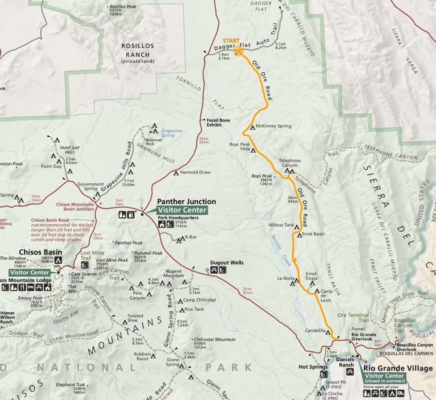 Chihuahuan Desert Bike Fest BBNP Old Ore Road Logistics